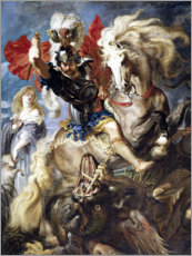 Vinilo para la pared  St. George and the Dragon - Peter Paul Rubens