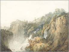 Cuadro de plexi-alu  Tivoli with the Temple of the Sibyl and the Cascades - Joseph Mallord William Turner