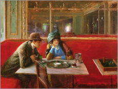 Cuadro de plexi-alu  At the Cafe - Jean Beraud