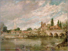 Vinilo para la pared  The Bridge of Harnham and Salisbury Cathedral - John Constable