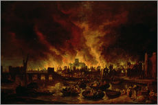 Vinilo para la pared  The Great Fire of London in 1666 - Lieve Verschuier
