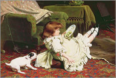 Vinilo para la pared  Time to Play - Charles Burton Barber