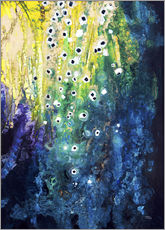 Vinilo para la pared  Flowers and waterfall after Klimt - Tara Thelen