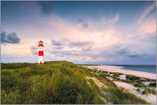 Vinilo para la pared  Lighthouse in the morning light (Sylt / Elbow / List East) - Dirk Wiemer