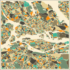 Cuadro de plexi-alu  Stockholm Map - Jazzberry Blue