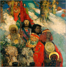 Vinilo para la pared  Druids bringing in the Mistletoe - Edward Atkinson Hornel