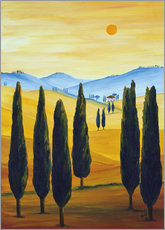 Cuadro de plexi-alu  Longing for Tuscany - Christine Huwer