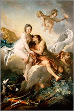 Vinilo para la pared  The Goddesses - François Boucher