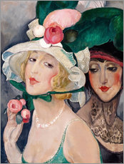 Vinilo para la pared  Two Cocottes with hats  - Gerda Wegener