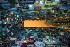 Vinilo para la pared  Skyscrapers in Hong Kong - Jan Christopher Becke