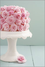 Vinilo para la pared  Cake with roses made of sugar - Elisabeth Cölfen