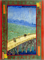 Vinilo para la pared  The Bridge in the Rain (after Hiroshige) - Vincent van Gogh
