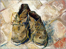 Vinilo para la pared  A Pair of Shoes - Vincent van Gogh