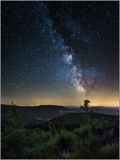 Vinilo para la pared  Milky Way over Black Forest - Andreas Wonisch