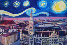 Vinilo para la pared  Starry Night in Munich - M. Bleichner