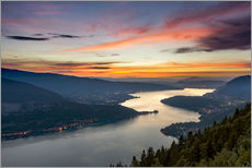 Vinilo para la pared  Colorful Sunset Annecy - Sander Grefte