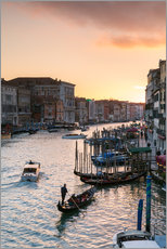 Vinilo para la pared Sunset over the Grand Canal in Venice, Italy