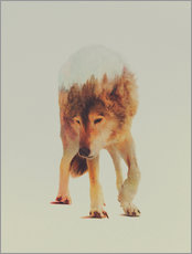 Vinilo para la pared  Wolf in the Woods - Andreas Lie