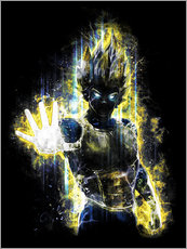Vinilo para la pared  Furia de Vegeta - Barrett Biggers