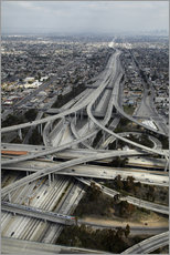 Vinilo para la pared  Carreteras en los angeles - David Wall