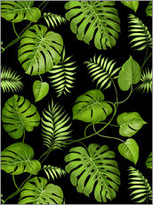 Vinilo para la pared  Monstera with palms
