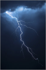 Vinilo para la pared  Stormy clouds with flash of lightning - Johan Swanepoel