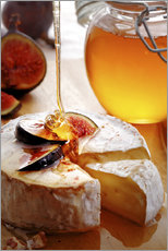 Vinilo para la pared  Brie Cheese and Figs with honey - Johan Swanepoel