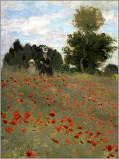 Vinilo para la pared  Poppy field at Argenteuil - Claude Monet