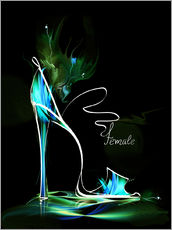 Cuadro de plexi-alu  Blacklight High Heel