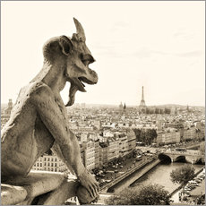 Vinilo para la pared  Gargoyle over Paris