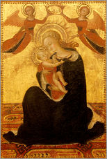 Vinilo para la pared Madonna and Child with Angels