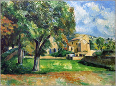 Cuadro de plexi-alu  Chestnut trees an farm - Paul Cézanne