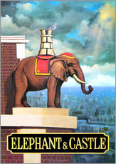 Cuadro de plexi-alu  27104 Elephant Castle - Peter Green's Pub Signs Collection