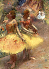 Vinilo para la pared  Two dancers - Edgar Degas