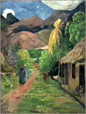 Vinilo para la pared  Road into the mountains - Paul Gauguin