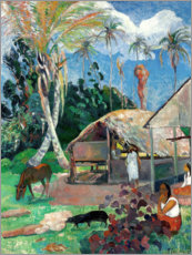 Vinilo para la pared  Los cerditos negros - Paul Gauguin