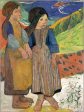 Lienzo  Little Breton Girls - Paul Gauguin