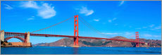 Vinilo para la pared  panoramic view of Golden Gate Bridge