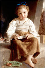 Cuadro de plexi-alu  The slurry, little girl eating his soup - William Adolphe Bouguereau