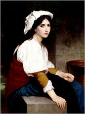 Cuadro de plexi-alu  Italian girl at a fountain - William Adolphe Bouguereau
