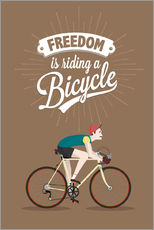 Cuadro de plexi-alu  Freedom is riding a bicycle - Typobox
