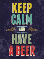 Vinilo para la pared  Keep calm and have a beer - Typobox