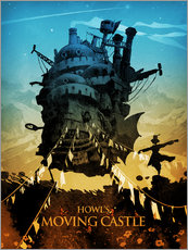 Cuadro de plexi-alu  Howl's Moving Castle (El castillo ambulante) - Albert Cagnef