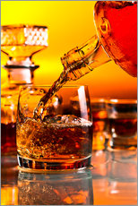 Vinilo para la pared  glass with whiskey and ice
