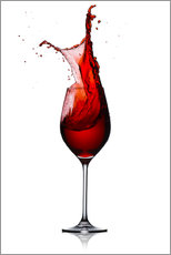 Cuadro de plexi-alu  Red Wine Glass