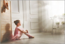 Vinilo para la pared  Little ballerina - big dreams