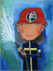 Vinilo para la pared  My little hero Fireman Julius - Atelier BuntePunkt
