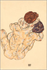 Póster  Abrazo hombre y mujer - Egon Schiele
