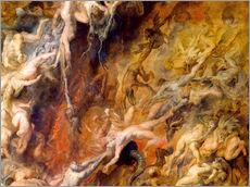Cuadro de plexi-alu  Hell of the Damned (Detail) - Peter Paul Rubens