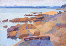 Vinilo para la pared  Coast near Antibes - Henri Edmond Cross